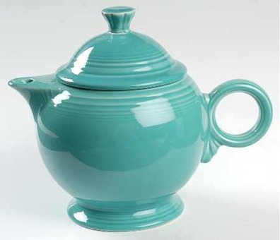 Teapot & Lid in Fiesta Turquoise (Newer) by Homer Laughlin
