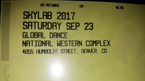 Two 2017 Skylab Tickets